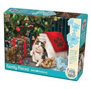 Cobble Hill Puzzles Cobble Hill Happy Pawlidays Family Puzzle 350pcs