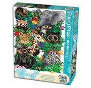 Cobble Hill Puzzles Cobble Hill Safari Babies Family Puzzle 350pcs