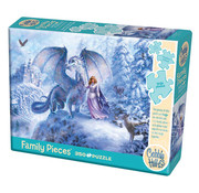 Cobble Hill Puzzles Cobble Hill Ice Dragon Family Puzzle 350pcs