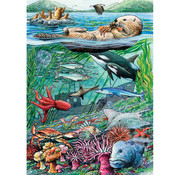 Cobble Hill Puzzles Cobble Hill Life on the Pacific Ocean Tray Puzzle 35pcs