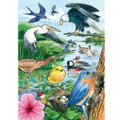 Cobble Hill Puzzles Cobble Hill North American Birds Tray Puzzle 35pcs