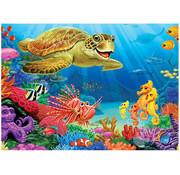 Cobble Hill Puzzles Cobble Hill Undersea Turtle Tray Puzzle 35pcs