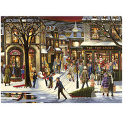 Cobble Hill Puzzles Cobble Hill Downtown Christmas Tray Puzzle 35pcs