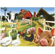 Cobble Hill Puzzles Cobble Hill Farmyard Welcome Tray Puzzle 35pcs