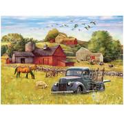 Cobble Hill Puzzles Cobble Hill Blue Truck Farm Tray Puzzle 35pcs