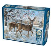 Cobble Hill Puzzles Cobble Hill Winter Deer Puzzle 500pcs