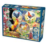 Cobble Hill Puzzles Cobble Hill Rooster Magic Puzzle 500pcs