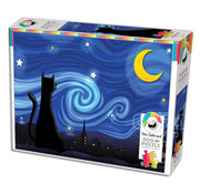 Cobble Hill Puzzles Cobble Hill (Oatmeal) Mrowwy Night Puzzle 500pcs