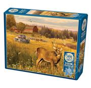 Cobble Hill Puzzles Cobble Hill Deer Field Puzzle 500pcs