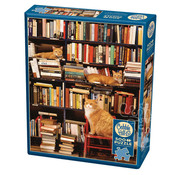 Cobble Hill Puzzles Cobble Hill Gotham Bookstore Cats Puzzle 500pcs
