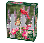 Cobble Hill Puzzles Cobble Hill Cardinals and Peonies Puzzle 1000pcs