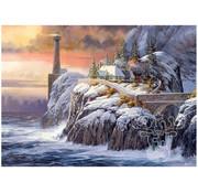 Cobble Hill Puzzles Cobble Hill Winter Lighthouse Puzzle 1000pcs