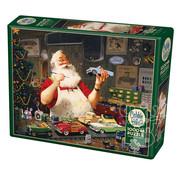 Cobble Hill Puzzles Cobble Hill Santa Painting Cars Puzzle 1000pcs