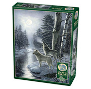 Cobble Hill Puzzles Cobble Hill Wolves by Moonlight Puzzle 1000pcs