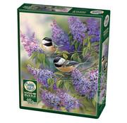 Cobble Hill Puzzles Cobble Hill Chickadees and Lilacs Puzzle 1000pcs