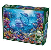 Cobble Hill Puzzles Cobble Hill Dolphins at Play Puzzle 1000pcs