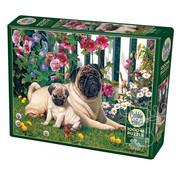 Cobble Hill Puzzles Cobble Hill Pug Family Puzzle 1000pcs