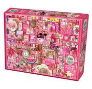 Cobble Hill Puzzles Cobble Hill Rainbow Collection Pink Puzzle 1000pcs