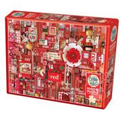 Cobble Hill Puzzles Cobble Hill Rainbow Collection Red Puzzle 1000pcs