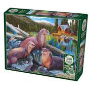 Cobble Hill Puzzles Cobble Hill River Otters Puzzle 1000pcs RETIRED