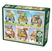 Cobble Hill Puzzles Cobble Hill Farmer's Market Trucks Puzzle 1000pcs