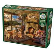 Cobble Hill Puzzles Cobble Hill Lakeside Cabin Puzzle 1000pcs