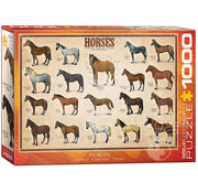 Eurographics Eurographics Horses Puzzle 1000pcs