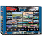 Eurographics Eurographics American Cars of the 1950s Puzzle 1000pcs