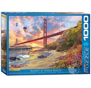 Eurographics Eurographics Sunset at Baker Beach Puzzle 1000pcs