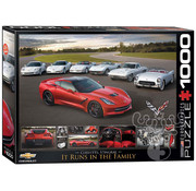 Eurographics Eurographics 2014 Corvette Stingray It Runs in the Family Puzzle 1000pcs