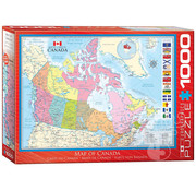 Eurographics Eurographics Map of Canada Puzzle 1000pcs