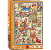 Eurographics Eurographics Flowers Seed Catalogue Covers Puzzle 1000pcs