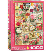 Eurographics Eurographics Roses Seed Catalogue Covers Puzzle 1000pcs