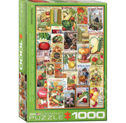 Eurographics Eurographics Vegetable Seed Catalogue Covers Puzzle 1000pcs
