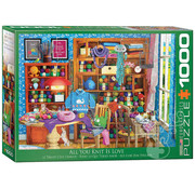 Eurographics Eurographics All You Knit is Love Puzzle 1000pcs