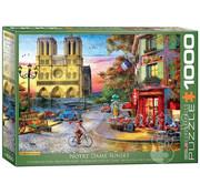 Eurographics Eurographics Notre Dame Sunset Puzzle 1000pcs