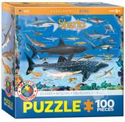 Eurographics Eurographics Sharks Puzzle 100pcs