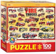 Eurographics Eurographics Fire Trucks Puzzle 100pcs