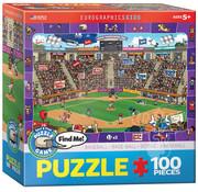 Eurographics Eurographics Spot & Find Baseball Puzzle 100pcs