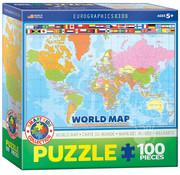 Eurographics Eurographics World Map Puzzle 100pcs