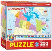 Eurographics Eurographics Map of Canada Puzzle 200pcs