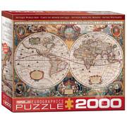 Eurographics Eurographics Antique World Map Puzzle 2000pcs