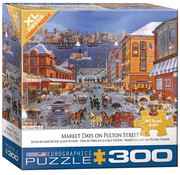 Eurographics Eurographics Market Days on Fulton Street XL Family Puzzle 300pcs