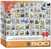 Eurographics Eurographics Butterflies Vintge Stamps Large Pieces Family Puzzle 500pcs