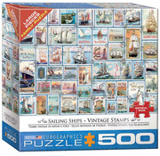 Eurographics Eurographics Sailing Ships Vintage Stamps Large Pieces Family Puzzle 500pcs