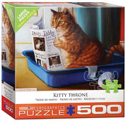 Eurographics Eurographics Kitty Throne Large Pieces Family Puzzle 500pcs