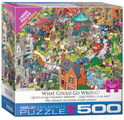 Eurographics Eurographics What Could Go Wrong? Large Pieces Family Puzzle 500pcs