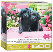 Eurographics Eurographics Black Labs in Pink Box Large Pieces Family Puzzle 500pcs