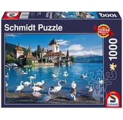 Schmidt Schmidt Lakeshore Swans Puzzle 1000pcs