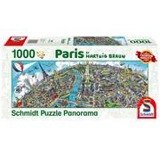 Schmidt Schmidt Paris Panorama Puzzle 1000pcs